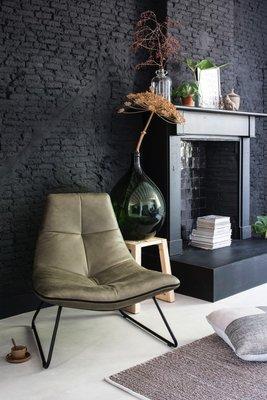 Stapelgoed Lederen fauteuil Duke