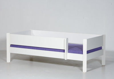Danish Odin junior bedbank + 3/4 uitval 90x160 helder wit