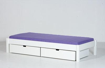 Juniorbed Met Lade.Danish Ull Junior Bed Met Lade Set 90x160 Helder Wit Kinderbeddenstore