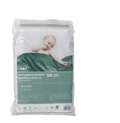 ABZ 70x140 waterproof PU Molton wit