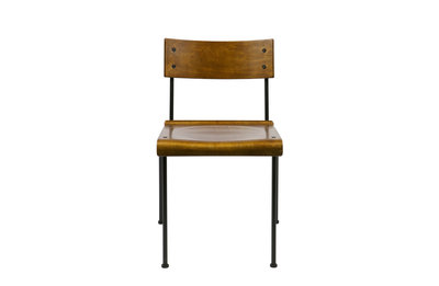 VT wonen school stoel hout vintage