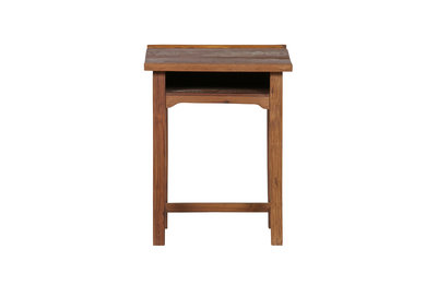 VT wonen School tafel 72 cm hoog vintage hout