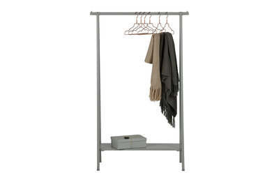 VT wonen Hang out kledingrek metaal beton grijs