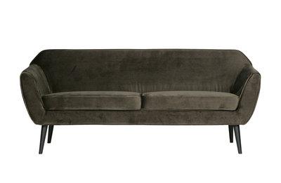 Woood Rocco 2 zits sofa bankje fluweel warm groen