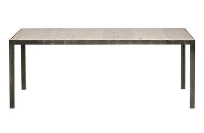 Woood Station 198x90 tafel / bureau eiken blad metalen poten