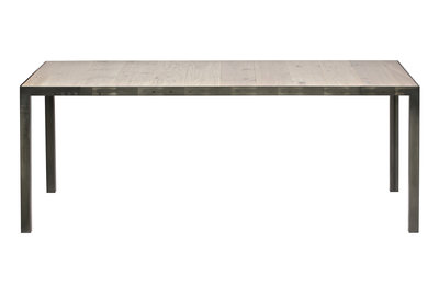 Woood Station 216x90 tafel / bureau eiken blad metalen poten