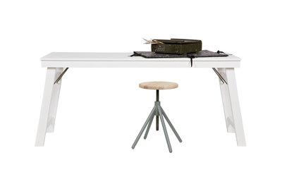 ≥ bureau wit met roze hout bureaus en bureaustoelen