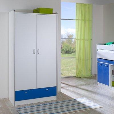 Relita Finn 2 deurs kledingkast wit met blauwe lade