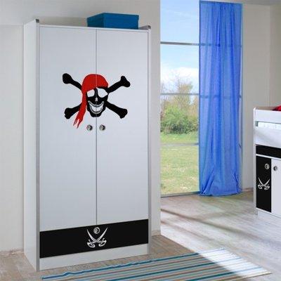 Relita Finn 2 deurs kledingkast wit met lade piraat lade
