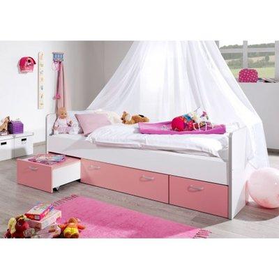 Relita Finn kajuitbed met 4 laden roze