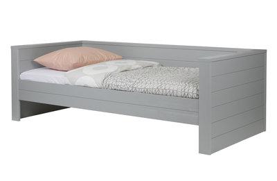 Woood Dennis bedbank 90x200 grenen beton grijs