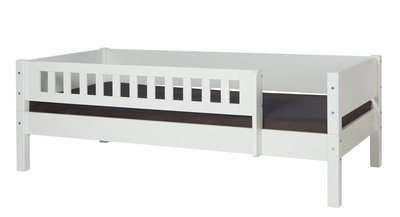Danish Benny bedbank + 3/4 uitval 90x200 helder wit