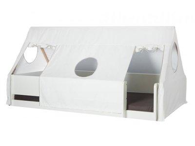 Danish tent huisje tbv 90x200 bedden stof wit