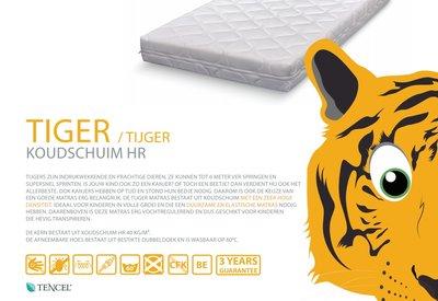 ABZ Tijger 90x200x14 HR40 koudschuim matras dubbeldoek hoes