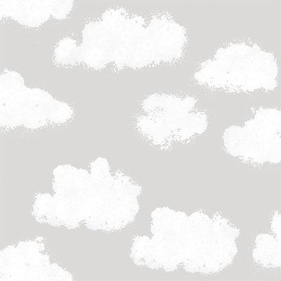 Puck & Rose behang - Clouds grey