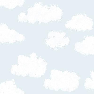 Puck & Rose behang - Clouds blue
