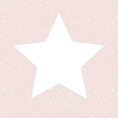 Puck & Rose behang - Big stars pink