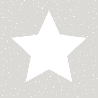 Puck & Rose behang - Big stars grey
