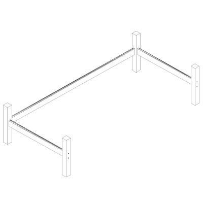 Hoppekids XXL halfhoog module tbv 90x200 bed grenen wit