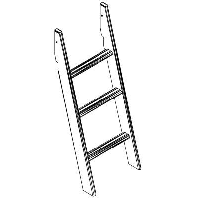 Hoppekids XXL schuine ladder voor halfhoog bed wit