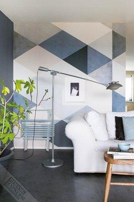 Onszelf Loft Posterbehang - Urban blue