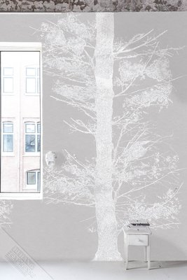 Onszelf Loft Posterbehang - Tree white