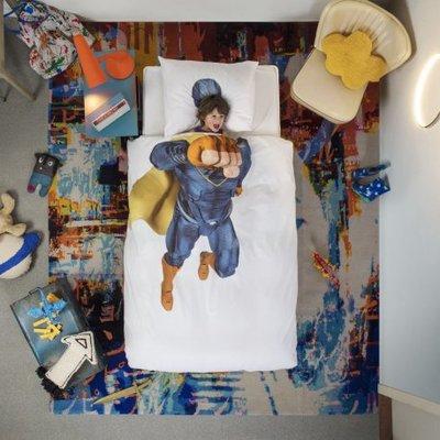 Snurk Super Hero blauw dekbedovertrek