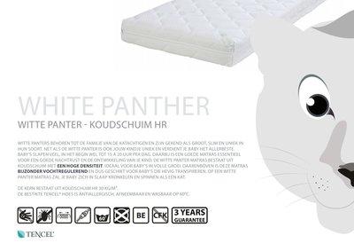 ABZ Witte Panter 70x150x11 HR 30 koudschuim matras Tencell hoes