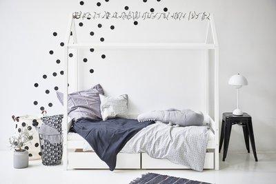 Hoppekids Ida Marie huisbed 70x160 grenen wit