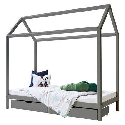 Hoppekids Basic huis bed 90x200 grenen grijs