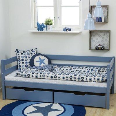 Hoppekids Ida Marie junior bed 70x160 grenen blauw