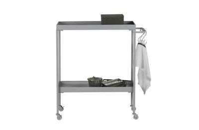 VT wonen Stack-it low tea trolley metaal beton grijs