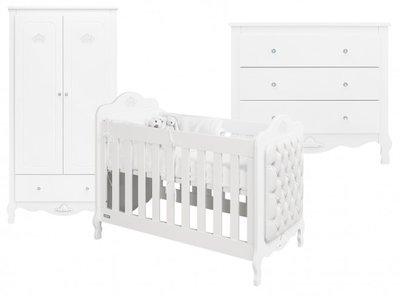 Bopita Diva prinsessen 3 delige babykamer wit