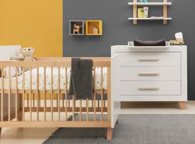 Bopita Lisa 2 delige babykamer wit/naturel