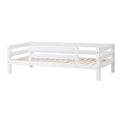 Hoppekids premium XXL bedbank 90x200 met 1/2 uitvalbeveiliging wit