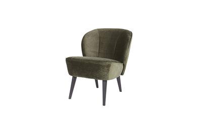 Fluwelen Stoel Groen : Woood sara fauteuil stof fluweel warm groen kinderbeddenstore