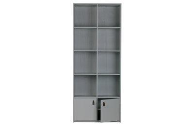 VT wonen boekenkast grenen geschuurd beton grijs