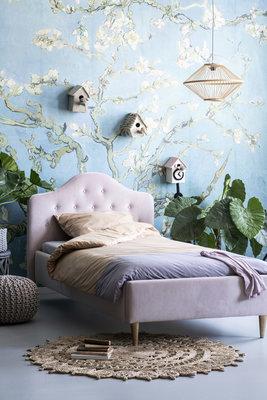 Coming kids Lisa gestoffeerd twijfelaar bed 120 x 200 Sweet blossom 166
