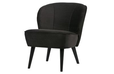 Woood Sara fauteuil fluweel antraciet