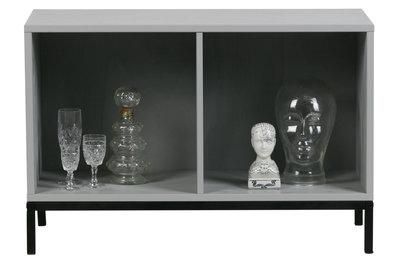 VT wonen Lower case two open kastje met frame grenen beton grijs