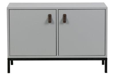VT wonen Lower case two doors kastje met frame grenen beton grijs
