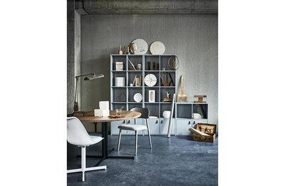 VT wonen Lower case twelve kast met frame grenen beton grijs