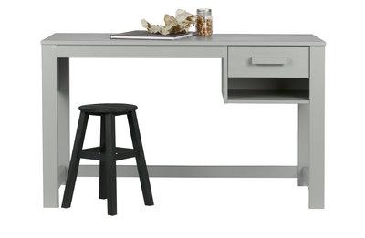 Woood Dennis junior bureau met lade grenen beton grijs