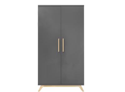 Bopita Kyan 2 deurs kledingkast XL deep grey - natural