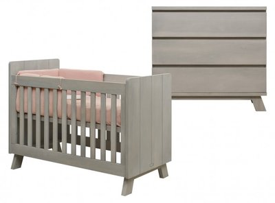 Bopita Pebble Wood 2 delige babykamer gravel wash