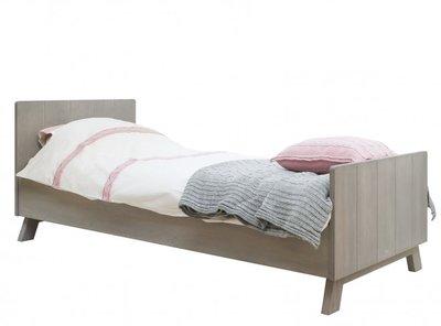 Bopita Pebble Wood bed 90x200 gravel wash