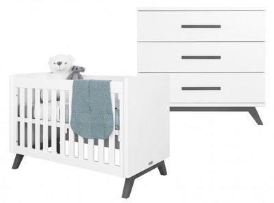 Bopita Levi design 2 delige babykamer wit - grey