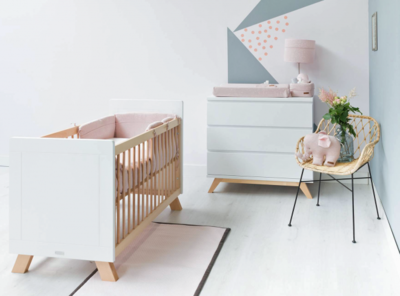 Bopita Lisa - Lynn 2 delige babykamer wit - naturel