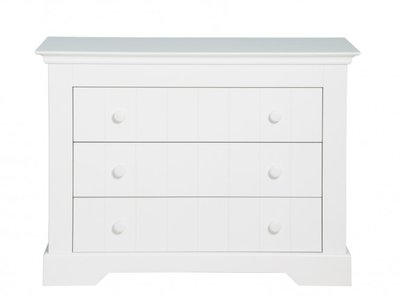 Bopita Narbonne 3 lade commode wit