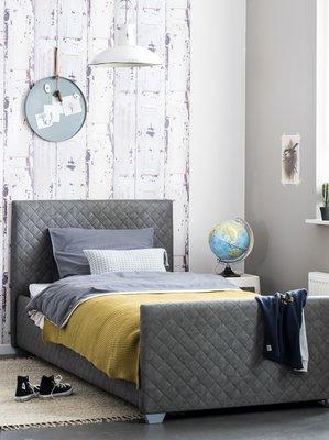 Coming kids Luke luxe gestoffeerd twijfelaar bed 140 x 200